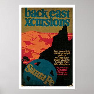 Santa Fe, New Mexico Vintage Travel Poster