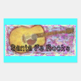 Santa Fe Rocks Rectangular Stickers