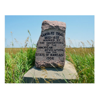 Santa Fe Trail Marker #35 in Kansas Postcard