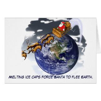 Santa Flees Earth Card