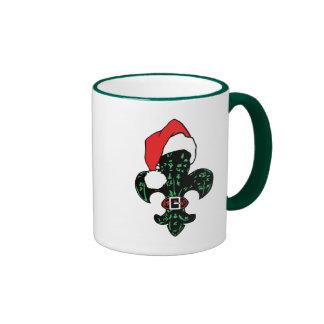 Santa Fleur de lis Coffee Mugs