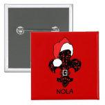 Santa Fleur de lis (red) Pinback Buttons