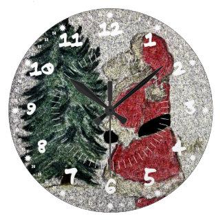 Santa Fresco Large Clock