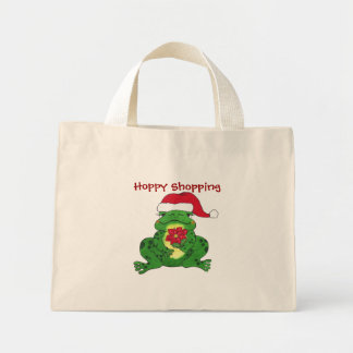 Santa Frog Hoppy Shopping - Bag