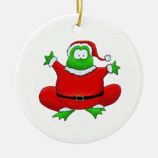 Santa Frog Ornament