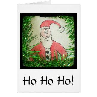 Santa Funny Drawing Christmas Card