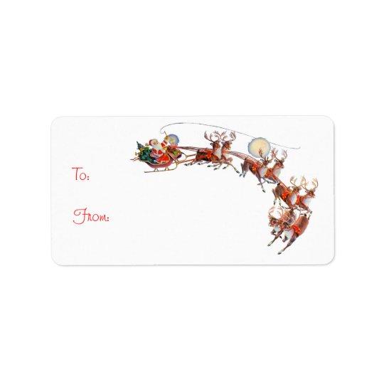 SANTA GIFT TAG by SHARON SHARPE Address Label