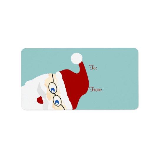 Santa Gift Tags Address Label