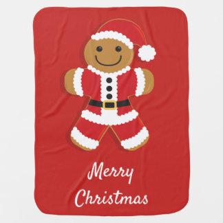 Santa Gingerbread Man | Baby Blanket