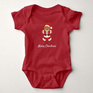 Santa Gingerbread Man   Baby Bodysuit