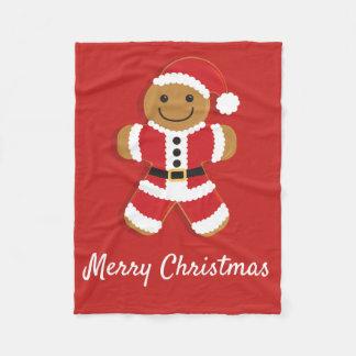 Santa Gingerbread Man | Fleece Blanket