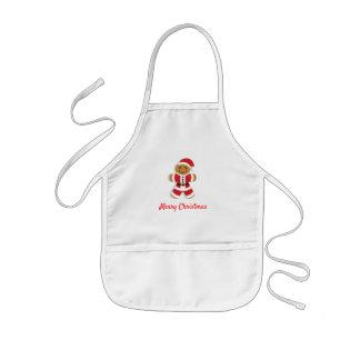 Santa Gingerbread Man | Kid's Apron