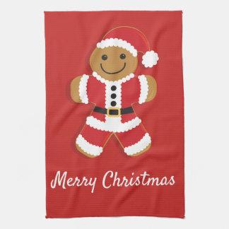 Santa Gingerbread Man | Kitchen Towel