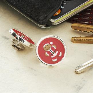 Santa Gingerbread Man | Lapel Pin