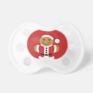 Santa Gingerbread Man   Pacifier