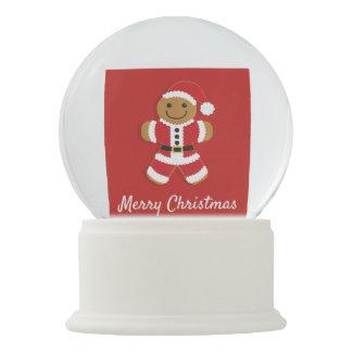 Santa Gingerbread Man   Snow Globe
