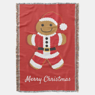 Santa Gingerbread Man | Throw Blanket