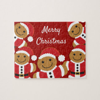 Santa Gingerbread Men | Jigsaw Puzzle