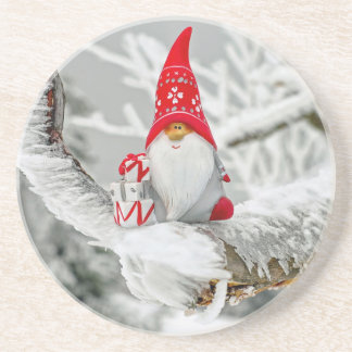 Santa Gnome Coaster