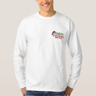 Santa Grandpa Embroidered Long Sleeve T-Shirt