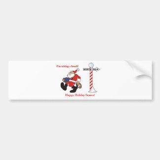 Santa Greetings Bumper Stickers