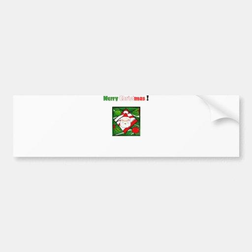 Santa Greets You Bumper Sticker