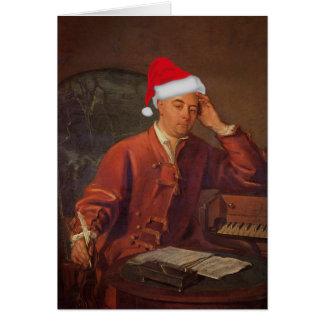 Santa Handel Messiah Classical Christmas Card