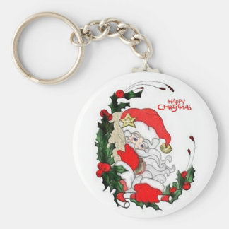 Santa Happy Christmas Keychain