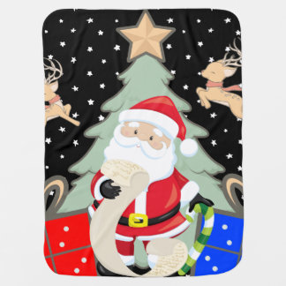 Santa Has A List Baby Blanket