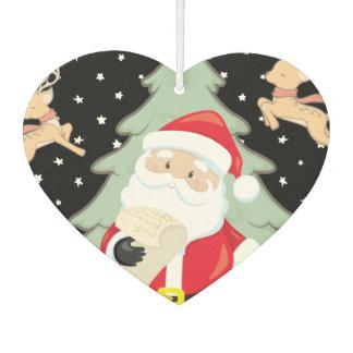 Santa Has A List Car Air Freshener