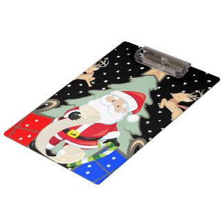 Santa Has A List Clipboard