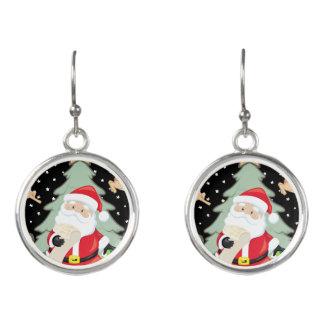 Santa Has A List Earrings
