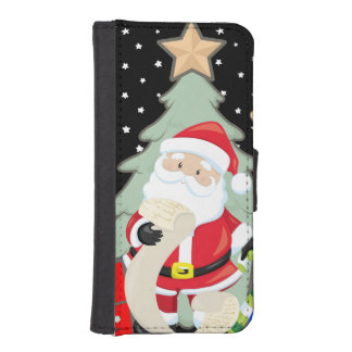 Santa Has A List iPhone SE/5/5s Wallet Case