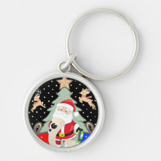 Santa Has A List Key Ring