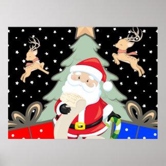 Santa Has A List Poster