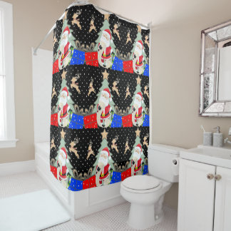 Santa Has A List Shower Curtain