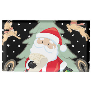 Santa Has A List Table Number Holder
