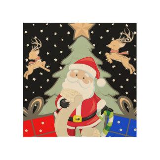 Santa Has A List Wood Print