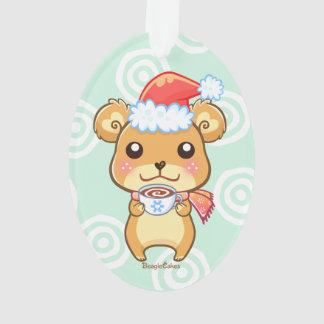 Santa Hat Bear Ornament