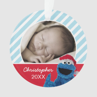 Santa Hat Cookie Monster | Add Your Name Ornament