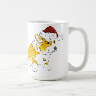 Santa Hat Corgi Coffee Mug