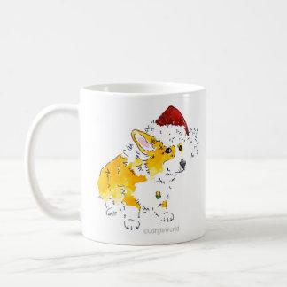 Santa Hat Corgi Mug