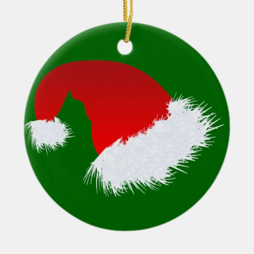 Santa Hat Christmas Ornaments