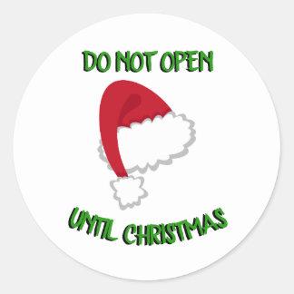 Santa Hat Don't Open Sticker