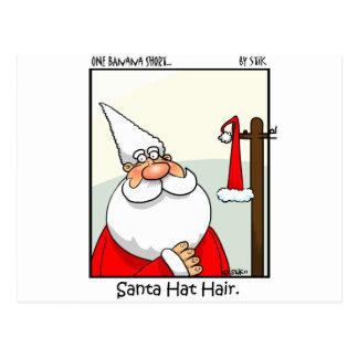 Santa Hat Hair Post Card