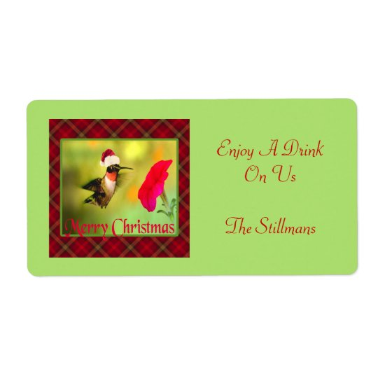 Santa Hat Hummingbird Christmas