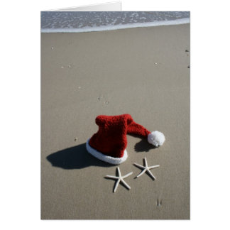 Santa Hat Merry Christmas from the Beach Card