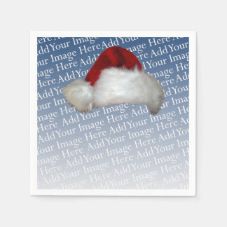 Santa Hat Photo Template Christmas Picture Holiday Disposable Napkin
