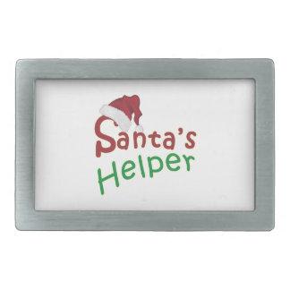Santa Hat Santa's Helper Rectangular Belt Buckles