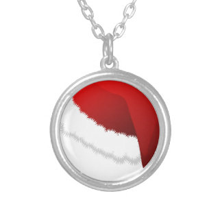Santa Hat Silver Plated Necklace